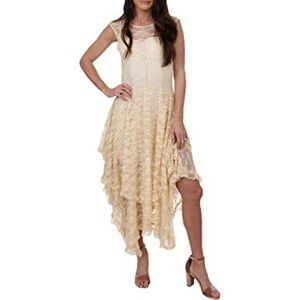 Lyrical overlay ivory lace dress by Free People